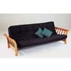 Oak Finish Sleigh Futon Bed 2424 (A)