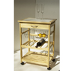 Pine Kitchen Cart With One Basket 34121(OI)