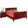 Carved Sleigh Bed In Cherry Finish 391_ (CO)