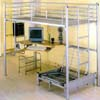 Computer Station Silver Twin Loft-Bed 4027(ML)