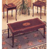 Cherry Coffee/End Table Set W/ Star Design 6025 (A)