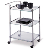 Kitchen Serving Cart in Metallic Finish 62933(OI)