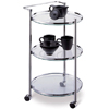 Circular Kitchen Serving Cart in Metallic Finish 62943(OI)