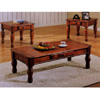 3-Pc Dark Oak Finish Occasional Set 700035 (CO)