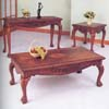 Coffee Table Set 3-Piece Oak Finish 7136  (A)