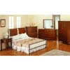 5-Piece Bedroom Set In Dark Oak And Silver Finish 7379Q (CO)
