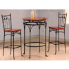 3-Pc Bar Set In Dirty Oak Finish 7661/7662 (CO)