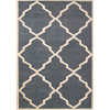 Alliyah Handmade Bluish-Grey New Zealand Blend Wool Rug 1336