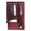 Wooden Wardrobe With Mirror WD-366_(ALAFS200)
