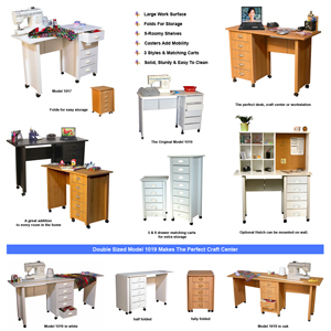 Mobile Desk Double & Craft Center 1019(VHFS)