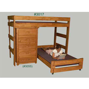 Twin/Twin Loft Bed And 5 Drawer Chest 3017/3055(PC)