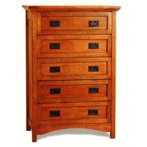 Mission Oak Finish Chest 3790 (CO)