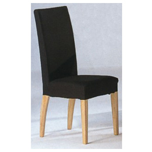 Dining chairs parson chair with black fabric cover 4220k for Black fabric dining room chairs