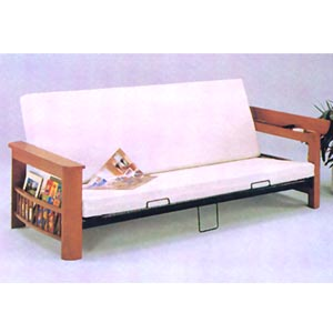 Wooden Futon sofa w/Magazine Rack 7524 (A)