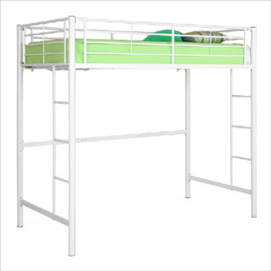 Sunrise Metal Twin Loft Bunk Bed BTOl_(WEFS)