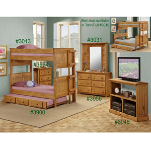 Solid Wood Stackable Bunk Bed 3013(PC)