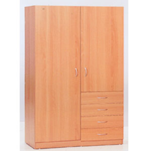 2-Door 4 Drawer Wardrobe WD-3102CH(VF)