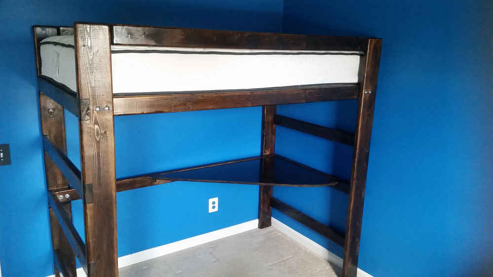 Wooden Bunk Beds Any Size L Shaped Loft Bed Solid Wood