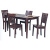 5 Pc Hardwood Dining Set 02800T23SET-01-KD (LN)