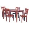 5 Pc Hradwood Dining Set 02801CHYSET-01-KD (LN)