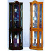 Oak Or Cherry Corner Curio Cabinet 1702 (WDFS150)