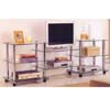 Chrome TV Stand w/Tempered Glass 2023 (ABC)