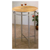 Sandy Nickel Finish And Maple Veneer Top Bar Table 2089 (CO)