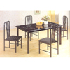 5 Pc Marble Finish Dining Set 2604/2608 (PJ)