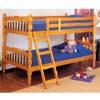 Honey Oak Finish Twin/Twin Convertible Bunk Bed 2301 (A)