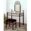 Black Wrought Iron Sunburst Design Vanity Set 2438 (CO)