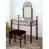 Black Wrought Iron Sunburst Design Vanity Set 2438 (CO)
