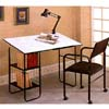 3-Pc Set Drafting Table With Lamp And Chair 2456 (CO)
