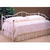 White Camel Back Daybed And Brass Accents 2630 (CO)