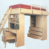 Solid Wood Loft Bed System 263TLB-B