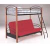 Wood/Metal Bunk Bed  2776  (A)
