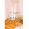 Chrome Plated Wire Tooth Brush & Cup Holder 2906(PJ)