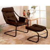 Satin Black Easy Chair With Ottoman 2911 (CO)