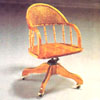 Oak Finish Swivel Chair  2997 (A)