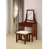 Walnut Finish Vanity Set 300064(CO)