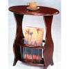 Cherry Finish Tea Table With Magazine Rack 3054 (COFS15)