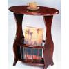 Cherry Finish Tea Table With Magazine Rack 3054 (COFS15)
