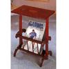 Cherry Finish Parquet Tea Table With Magazine Rack 3237 (CO)