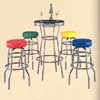 Chrome Bar Table And Stool 5-Piece Set 3253 (IEM)