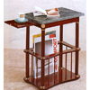 Green Marble Top Magazine Table In Cherry Finish 3306 (CO)