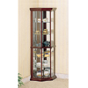 Solid Wood Corner Curio Cabinet in Cherry 3393(CO)