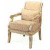 Antique Crackle Finish Arm Chair W/Pillow 3509 (CO)
