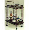 Cherry Finish Serving Cart With Brass Accents 3512 (CO)