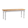 Natural/White Farm  House Bench 3535NW (MLFS20)