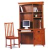 Mission Oak Finish Computer Desk & Hutch 379_ (CO)