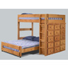 Full/Full Loft Bed w/Ten Drawer & Lingerie Chest 3927 (PC)